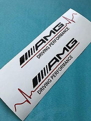 2x AMG Driving Performance Red or Gold Pulse Aufkleber Car Window Sticker 153