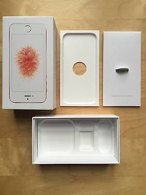 No-Phone Empty Box For Iphone Se Includes Manual & Apple Stickers