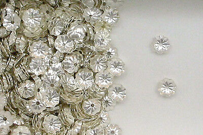 925 Sterling Silver 4mm Flower Design Bead Caps, Choice of Lot Size & Price