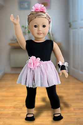 ShowTime - Clothes for 18 inch American Girl Doll, Unitard, tutu ballet slippers