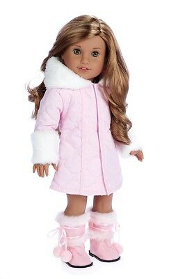 Cotton Candy - Doll Clothes for 18 inch American Girl, Parka Hood Dress Boots