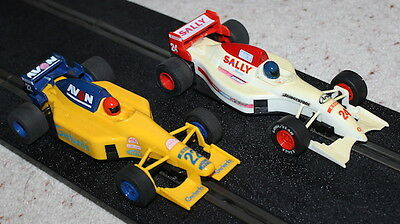 A Pair of Scalextric F1 cars FREE POSTAGE
