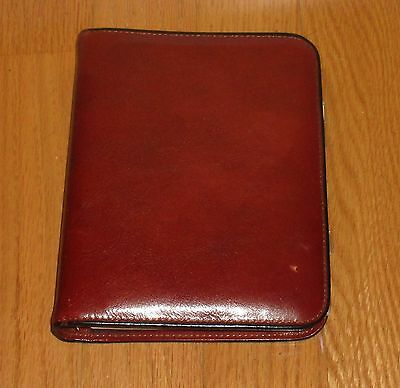 Vintage Bosca Hand Stained Hide  Leather Address Book