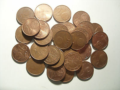 Lot Of 1.2.5.10 Eurocents (Different Years And Countries )