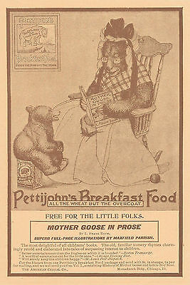 1900 Pettijohn's Breakfast Food Serial Ad Mother Goose In Prose
