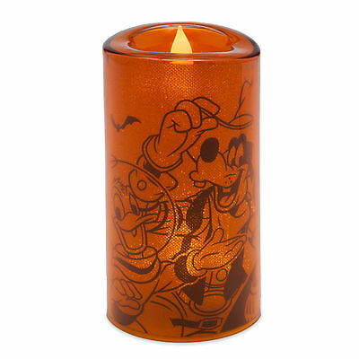 Disney Parks 2016 Mickey and Friends Faux-Flame Light-Up Halloween Candle (NEW)