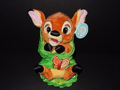 Disney Babies Baby BAMBI Plush Doll Green Blanket Butterfly Disneyland Parks