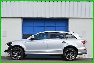 2015 Audi Q7 3L TDI Prestige Nav Bose Heated Cooled Pano Loaded Repairable Rebuildable Salvage Lot Drives Great Project Builder Fixer Easy Fix