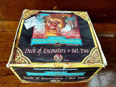 Advanced Dungeons Dragons Official Master Deck of Encounters Set Two Vintage