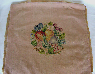 Antique needle point cover top to pillow