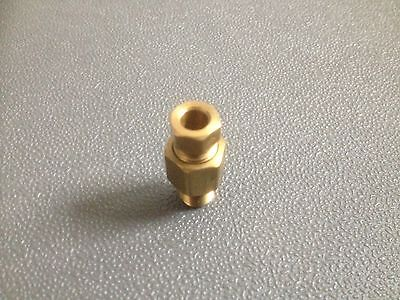 "10 Pcs  Brass Male Connectors 1/4"" Tube 1/8"" Pipe Thread"