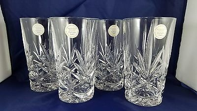 Princess House Highlights France Lead Crystal Glasses or Tumblers 746 Set of 4