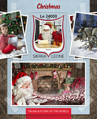 Sierra Leone 2016 MNH Christmas 1v S/S Father Christmas Santa Claus Stamps