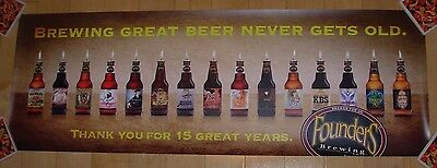 FOUNDERS BREWING Poster 15TH ANNIVERSARY KBS Label Art craft beer brewery
