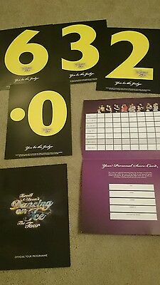 Torvill and Dean Dancing on Ice tour programme from 2008 with scorecards