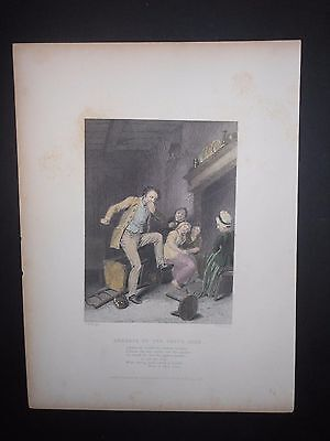 Address Poem The Toothache 1839 Hand Colored Engraving