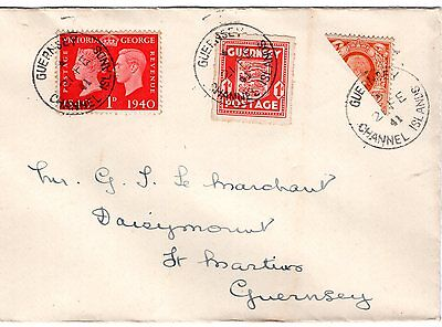 Guernsey, Superb Bisect Cover With Kgv Photo Bisect, 100%  Genuine