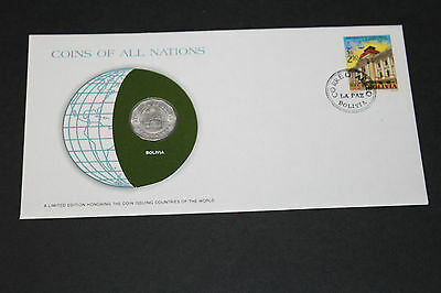 Bolivia Coins Of All Nations 1972 25 Centavos Coin Unc