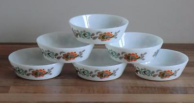 Set of Six - Vintage Retro Funky Pyrex JAJ CARNABY TEMPO Cereal / Soup Bowl