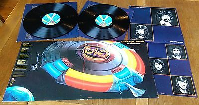 E.L.O. - Out of the Blue - 1977 gatefold Double Vinyl LP with poster Ex!
