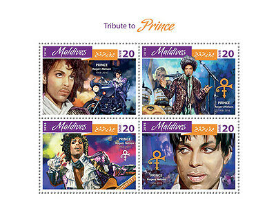 Maldives 2016 MNH Prince Rogers Nelson Tribute 4v M/S Music Celebrities Stamps