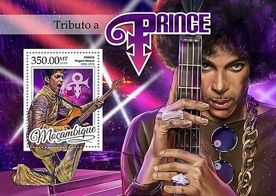 Mozambique 2016 MNH Prince Rogers Nelson Tribute 1v S/S Music Celebrities Stamps
