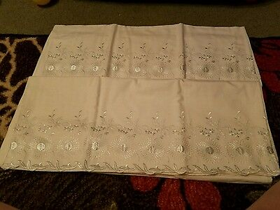 Antique embroidered pillow cases