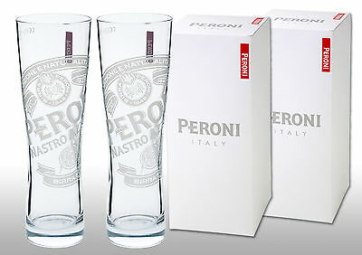 Peroni 1/2 Pint Glasses (Set of 2) In Peroni Gift Boxes. Free 1st Class Postage.
