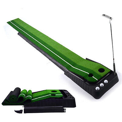 New Golf Putting Green Return Ball System Practice Mat Home Golfing Training Aid