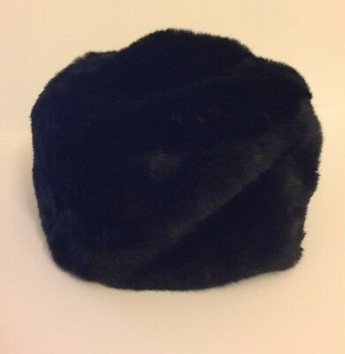 80's Vintage Womens Black Faux Fur Hat, Russian Cossack Style AW16/17