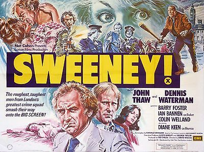 """The Sweeney 1977 16"""" x 12"""" Reproduction Movie Poster Photograph"""