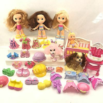 Fisher Price Snap N Style Dolls Large Lot Of Various Dog Clothes Baby & More! B