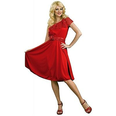 Disco Dynamite Adult Womens Red Saturday Night Fever Dress 70s Halloween Costume