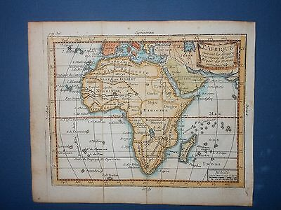 Africa 1739 Map by Claude Buffier Hand Color Madagascar Congo Angola L'afrique