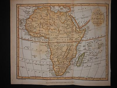 Africa 1797 Map By Cadell & Davies Hand Colored Scarce Sahara Negroland Guinea