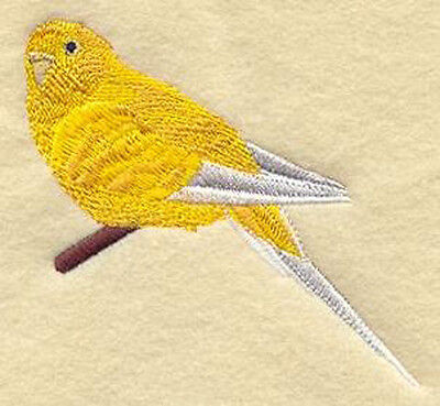 Budgie gold embroidery patch