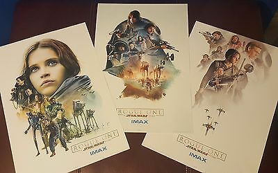 Rogue One:A Star Wars Story Limited Edition set of all 3 IMAX Posters