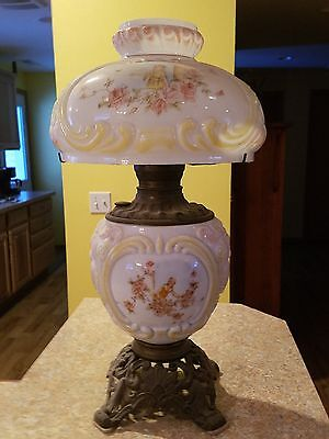 Antique Victorian Handpainted Gone WIth the Wind GWTW Oil Lamp
