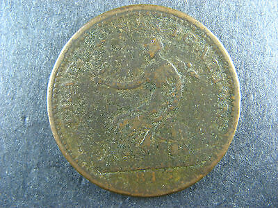 NS-19B2 Halfpenny 1813 token Canada Nova Scotia Trade & Navigation Breton 963