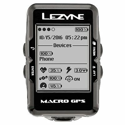 Lezyne Macro GPS Cyclocomputer with HR