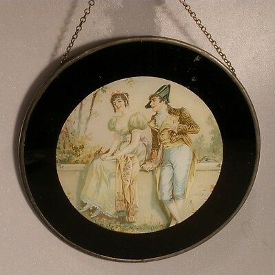 Flue Cover with Romantic Courting Couple