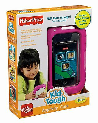 FISHER-PRICE Kid-Tough Apptivity Iphone and Ipod Case, New, Pink