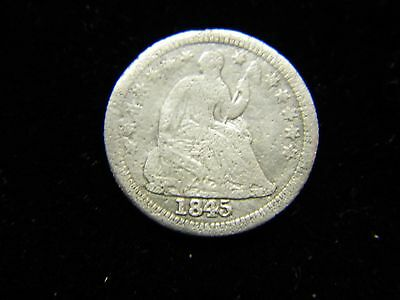 1845 Liberty Seated Half Dime