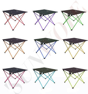 Ultra Light Folding Desk Outdoor Portable Camping Small Table + Backpack Garden