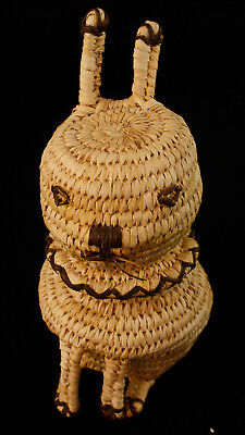 Papago Basket, Rabbit, with Removable Head, 1940's,