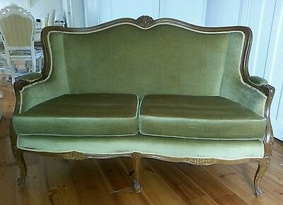 French Provincial style 2 seater couch/sofa/loveseat