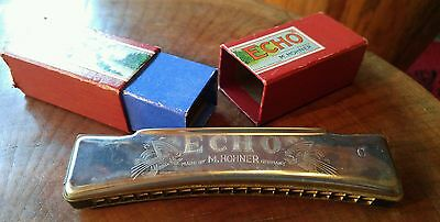 Vintage ECHO M. Hohner Harmonica, Made in Germany, with box