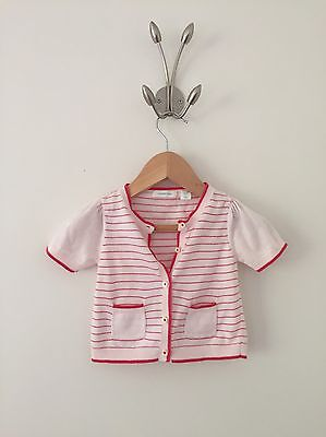 Baby Girl Girls COUNTRY ROAD Cardigan Knit Top, Size 0 6-12m, Excellent Cond