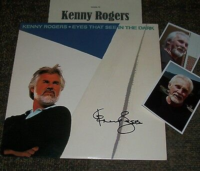KENNY ROGERS Autographed MINT Album & Photos/- VERY Collectible
