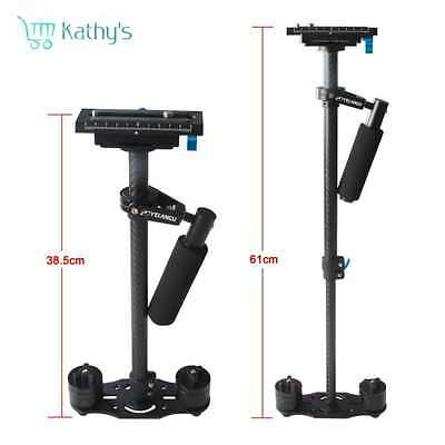 YELANGU 60CM/24'' Carbon Fiber Handheld Stabilizer for DSLR Camera Canon 5D2 MK2
